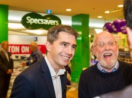 Luke Fratturo welcomes customers to Specsavers Audiology in Woden ACT
